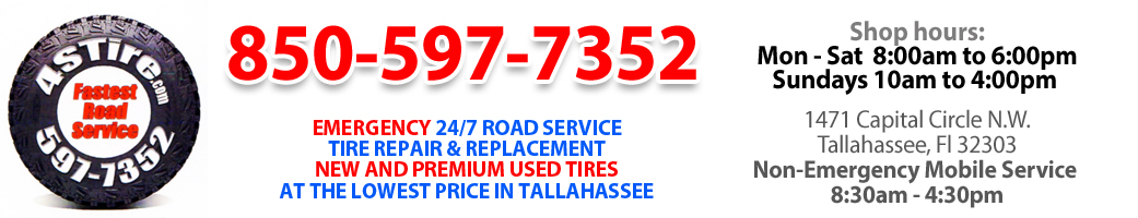 Tallahassee Tire Shop Roadside Service And 24 Hour Tire Repair